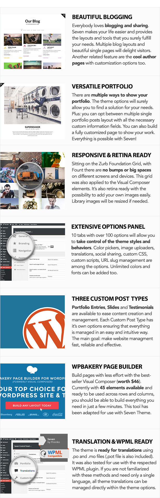 Seven - Stylish WordPress Theme - 4